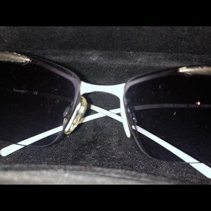 Chanel sunglasses with mat silver frame